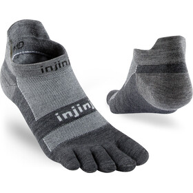 Injinji Run LW Sneakersocks No-Show Charcoal